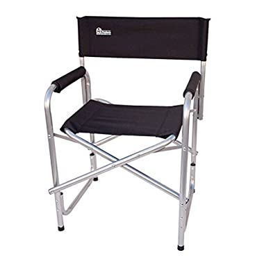 Earth  Extra Heavy Duty  Folding Director's Chair w/ Extra Heavy-Duty, Steel Reinforced Frame -- Foam Arm Rests for Comfort