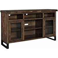 Signature Design by Ashley W815-48 TV Stand with Open Media Storage, Walnut Brown