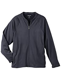 Jockey Modern Fit Collection Men's Zip Front Fleece Solid Scrub Jacket