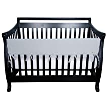 Trend Lab Gray Fleece CribWrap Wide Rail Cover for Crib Front/Back, Gray