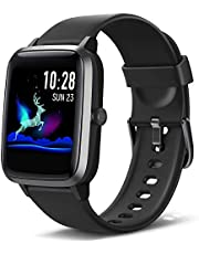 Lintelek Smart Watch Full-Touch Screen Sports Watch with GPS Fitness Tracker Waterproof 5ATM Stop Watch for Men Women Compatible with iPhone Android Phone
