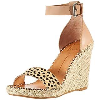 Dolce Vita Women's Noor Wedge Sandal, Leopard Calf Hair, 8 M US