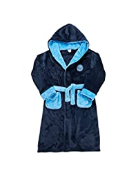 MINIKIDZ Boys Novelty Hooded Soccer Themed Dressing Robe (Ages 2-13)