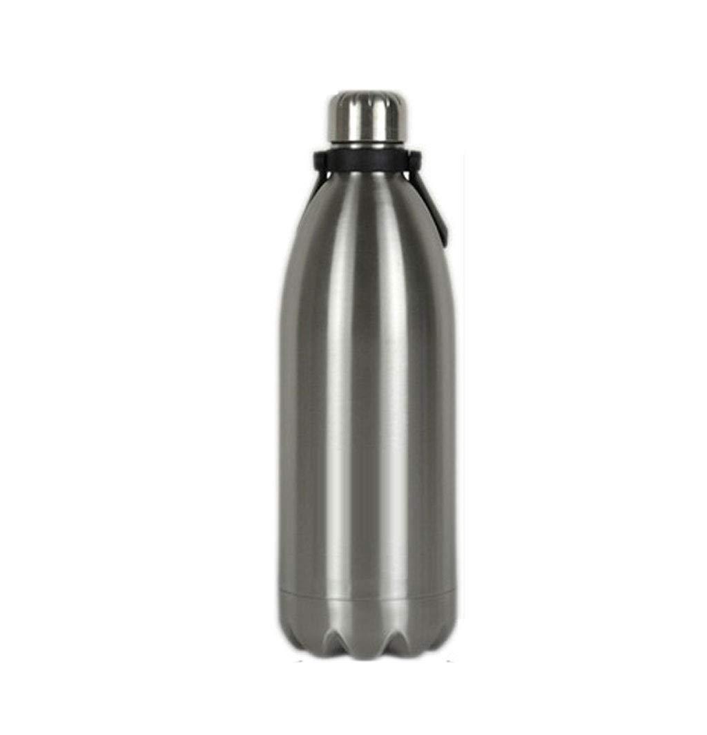 WLHW Trinkflaschen Isolierung Wasserkocher Krug, 304 Edelstahl Große Kapazität Vacuum Cup Outdoor Sports Auto Flasche Camping selbstfahrende 1.8L