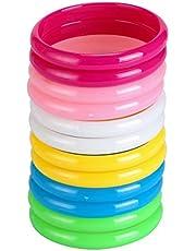 BinaryABC Plastic Bangle Bracelets Candy Color Bracelet Party Favors Pack Birthday Party 12pcs (Each Color 2 Pieces)