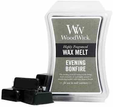 Evening Bonfire WoodWick Hourglass 3 oz Wax Melt