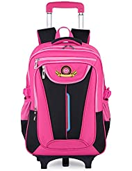 Rolling Backpack, COOFIT Wheeled Backpack Kids Rolling Backpack With Wheels