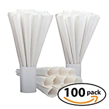Cotton Candy Cones (12 Inch) Case of 100 Disposable Paper Sticks Count - by Carnival Canada