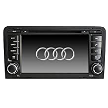 XTTEK 7 inch HD 1024x600 Multi-touch Screen in dash Car GPS Navigation System for Audi A3 2003-2013 Quad Core Android DVD Player+Bluetooth+WIFI+SWC+Backup Camera+North America Map