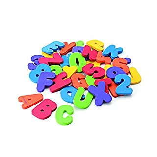 Celiy Foam Numbers Letters Card Bath Toy Bathroom Alphabet Toys Stick On Foam Wall Home & Garden Bathroom Products for Halloween Onsale