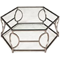 Magnussen T2060 Nevelson Metal Hexagonal Cocktail Table