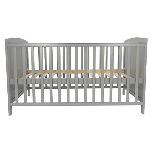 Puckdaddy cuna 140 x 70 cm, convertible en una cama infantil en gris