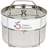 Chiboz Cookware Instant Pot Accessories 6 qt - Stackable Insert Pans