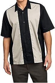 Port Authority Retro Bowling Shirt (S300B) 2X Black-Light Stone [Apparel]