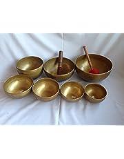Tibetan Chakra Set Handmade Singing Bowl - 7 pieces high quality handmade bowls