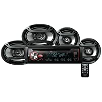 Pioneer DXT-X2969UI Car stereo with multicolour illumination RDS tuner, CD, USB and Aux-in, Two 6.5 Speakers & Two 6 x 9 Speakers