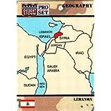 Republic of Lebanon trading card (Desert Storm) 1991 Pro Set #33