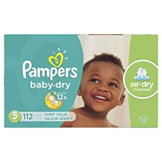 Diapers Size 5, 112 Count - Pampers Baby Dry Disposable Baby Diapers, Giant Pack