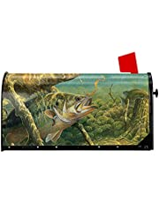 Granbey Fishing Fish Welcome Mailbox Cover Magnetic