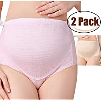 Rysly Over The Bump Adjustable Waistline Cotton Support Maternity Panties Comfy Pregnancy Underwear