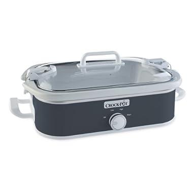 Crock-Pot SCCPCCM350-CH Casserole Crock Slow Cooker, 3.5-Quart, Charcoal