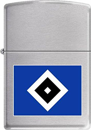 Zippo HSV-Chrome Brushed-Gravur Sturmfeuerzeug, Mehrfarbig, 6 x 4 x 2 cm