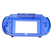 Clear Hard Case Transparent Protective Cover Shell Skin for Sony PSVita 2000 PSV 2000 Crystal Body Protector (Transparent Blue)