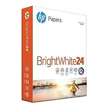 HP Printer Paper, Bright White InkJet Copy Paper, 24lb, 8.5 x 11, Letter, 97 Bright - 1 Pack/500 Sheets (203000R)