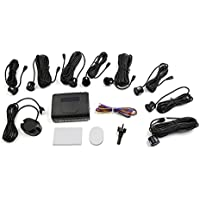 uxcell 8 Parking Sensors Car Reverse Assist Backup Front Rear Buzzer Sound Alert Alarm Kit Black