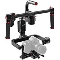 MOZA Lite II 3-Axis Motorized Handheld Gimbal Video Camera Stabilizer For Mirrorless Cameras and DSLRs, Black Magic Professional Film Production