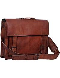18 Inch Retro Leather Briefcase Laptop Messenger Bag