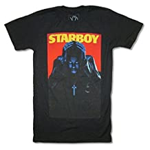 The Weeknd Starboy Mens Black T Shirt Adult