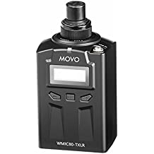 Movo WXLR8 48-Channel UHF Wireless XLR Plug-in Microphone Transmitter for the WMIC80 Wireless System