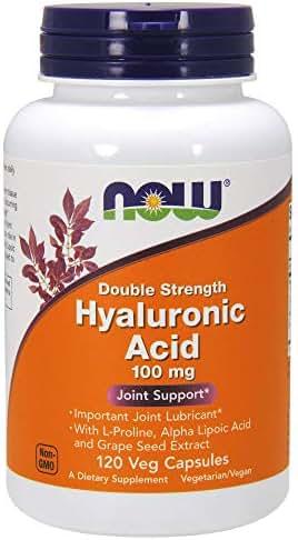 NOW® Hyaluronic Acid, 100mg, 120 Veg Caps