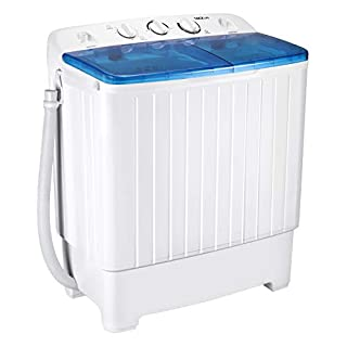Portable Washing Machine, TACKLIFE 17.6lbs Twin Tub Mini Washing Machine, Wash(11lbs) and Spin Combo(6.6 lbs), Timer Control with Soaking Function, For Camping, Apartment, Dorm, RV - DSTP171