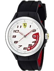 Scuderia Ferrari Gents SF102 'Lap Time' Black Watch with White Dial 0830013