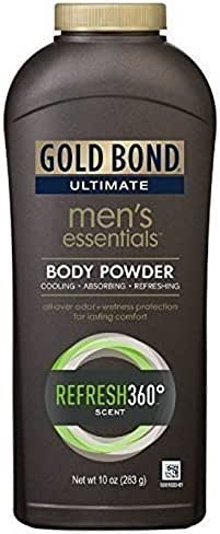 Gold Bond Ultimate Men's Essentials Body Powder, 10 oz, Pack of 2