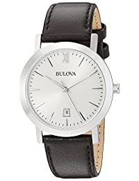 Bulova Unisex 96B217 Analog Display Japanese Quartz White Watch