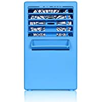 dBass™ Portable Air Conditioner Humidifier Fan, 3 Gear Wind Speed Personal Space Cooler, Blue
