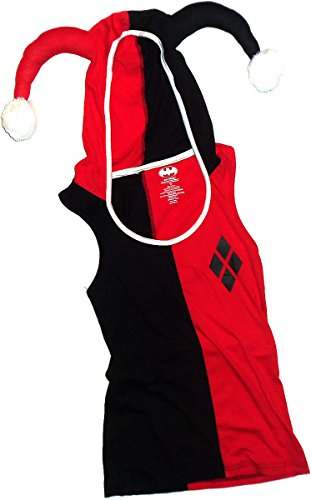 Batman+tank+top Products : Harley Quinn -- Batman -- Hooded Costume Juniors Tank Top