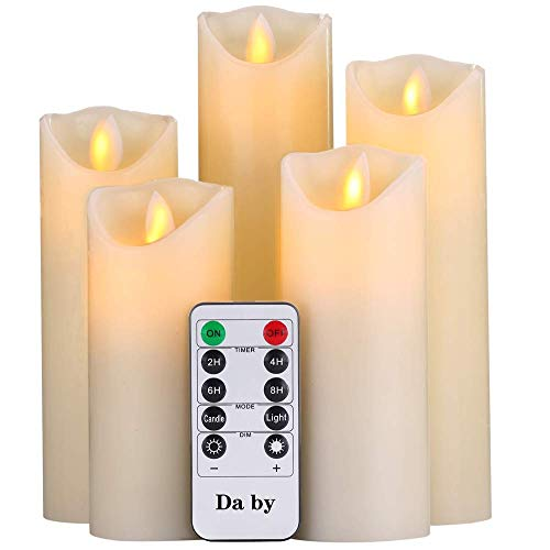 Da by Flameless Candles Glass Candle Realistic Dancing LED Flickering Candles