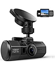 Dash Cam Crosstour 1080P Full HD In Car Dashboard Camera Video Recorder 170° Wide Angle HDR with Motion Detection Loop Recording Night Vision and G-sensor