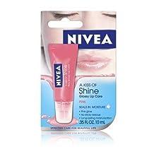 Nivea Kiss of Shine, Pink Gloss lip care, 0.35 OZ