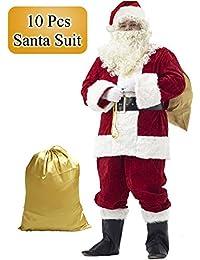 Santa Suit Adult Costume 10pc.