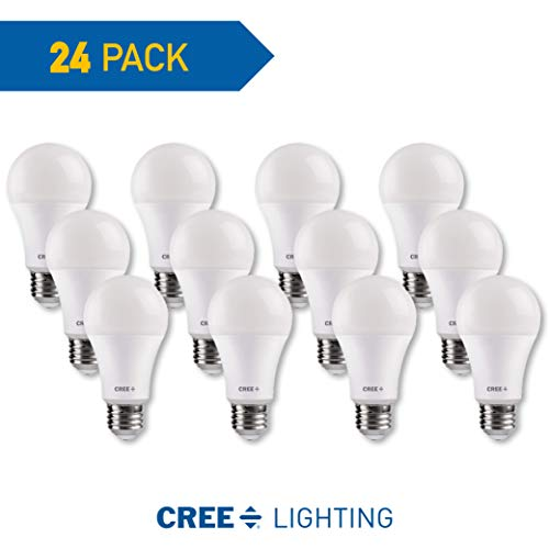 Cree Lighting, TA19-08027MDFH25-12DE26-1-E1-MP, A19 60W Equivalent LED Bulb, 815 lumens, Dimmable, Soft White 2700K, 25,000 hour rated life, 90+ CRI Good for Enclosed | 24-Pack