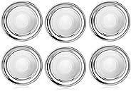 King International 100% Stainless Steel Quarter Plate | Set of 6 Quarter Mess Trays (19.5 cm) | Quarter Plate