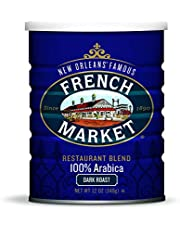 French Market Coffee, Restaurant Blend Dark Roast, 12 Ounce Can (Pack of 3)