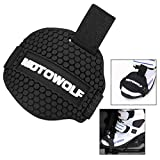 Xrten Motorcycle Gear Shift Pad Shoes Boots Protector, Rubber Gear Shift Shoes Boots Scuff Protector Shifter Guards - Black