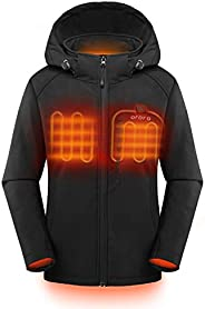 ORORO Women's Slim Fit Heated Jacket with Battery Pack and Detachable