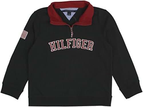 Tommy Hilfiger Boys' Quarter-Zip Varsity Pullover,Color Swin Navy